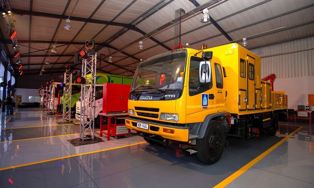 The new Key Durban Service Centre. The new workshop has been built around Isuzu Motors South Africa's global standards and systems.