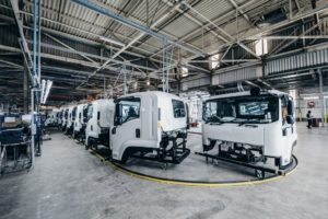 Production of Isuzu trucks at their new home in Struandale started in January 2019.