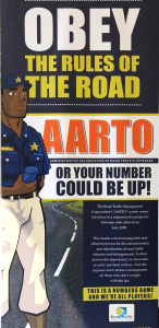 Going back many years – an early poster of the AARTO Bill. The AA has expressed concerns at a number of flaws in the system as it awaits final sign off by the President.