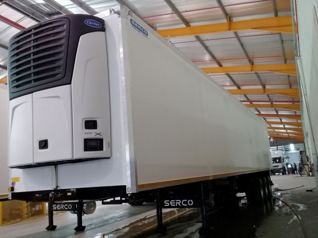 Serco recently completed the manufacture of its first two Protec reefer semi-trailers using aluminium facings in place of steel. The result is vehicles with the advantage of injected foam panel technology plus the benefit of a reduction in tare weight allowing for increased payloads.