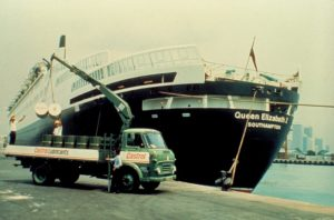 The Queen Elizabeth II, launched in 1967, powered by Castrol lubricants.