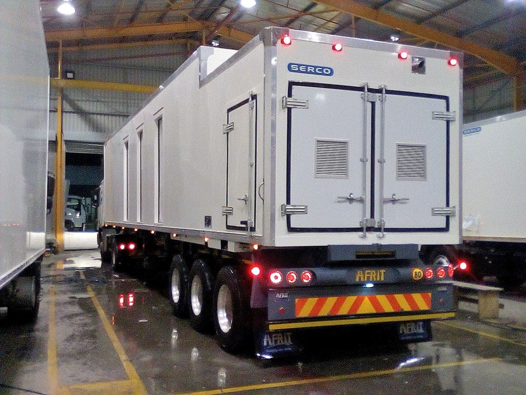 Almost ready for delivery from Serco's Durban plant is this customer built and designed mobile bank unit which will be used by the client as a back-up or disaster relief unit in emergencies.