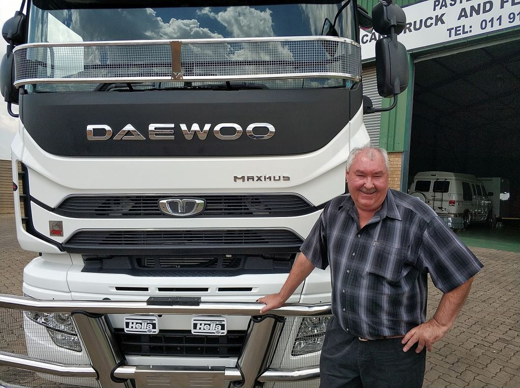 "Piet Stemmet, owner of PA Stemmet Vervoer: ""We benefit from the high torque (2 509Nm) and horsepower (354kW) in these trucks, which means more revenue for my company and a happy driver behind the wheel."""