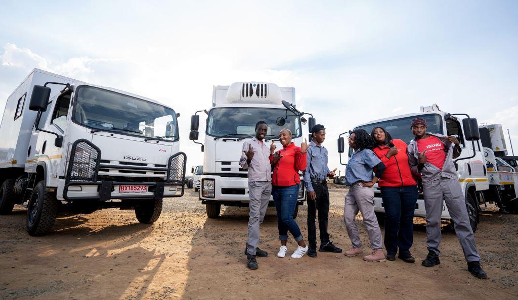 Ready for great things are from left: Keith Shai (32), Granny Leolo (33), Wesley Naledzani (25), Fikile Mavundla (34), Eugenia Manana (33) and Patrick Sinthumule (27).