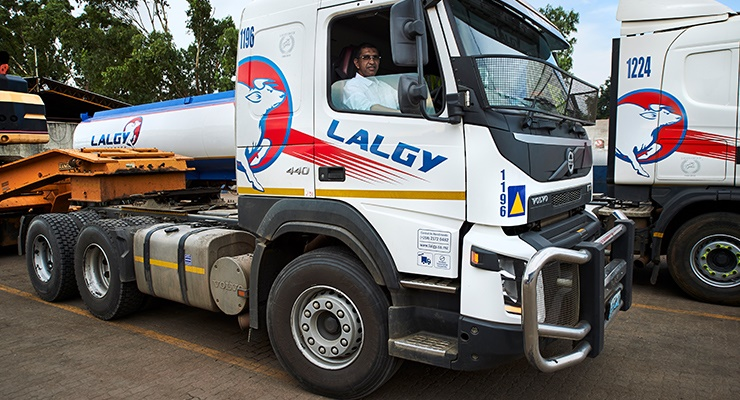 The diverse Lalgy fleet transports various goods of different sizes and types, from construction equipment to food products, often to remote areas throughout Mozambique as well as surrounding countries