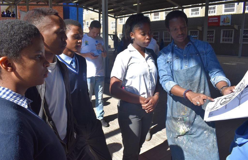 Grade 12 learners from Alexander High School in conversation with South African artist, Daniel Selibe about their visual art.