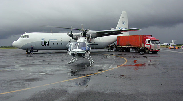 In terms of its aircraft and aviation services, the UN's peacekeeping operation would be ranked in the top 20 in the world if it was an international airline.