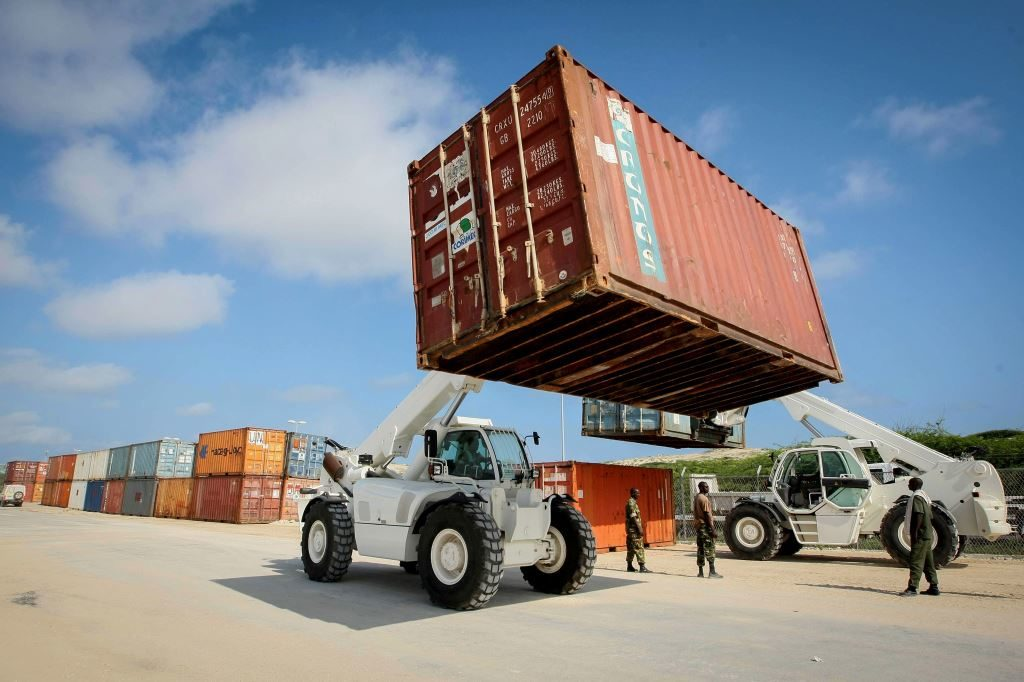 Containers are prepared for shipment to the field. UN Field Support delivers everywhere the UN conducts peace operations.