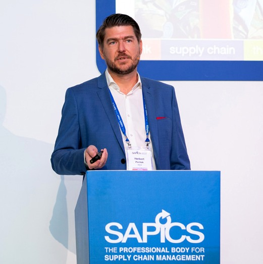 """Herbert Pechek, supply chain management principal at the United Nations Support Office in Somalia, talking at the SAPICS conference. """"In January 2019, our success was reflected in the appointment at UN headquarters of an Assistant Secretary General for Supply Chain Management."""""""
