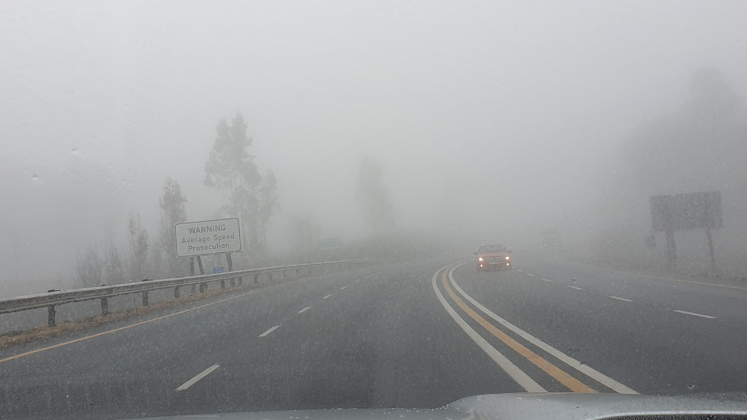 Van Reenen's pass in the mist. And it gets much thicker than this as the second picture accompanying this story shows.