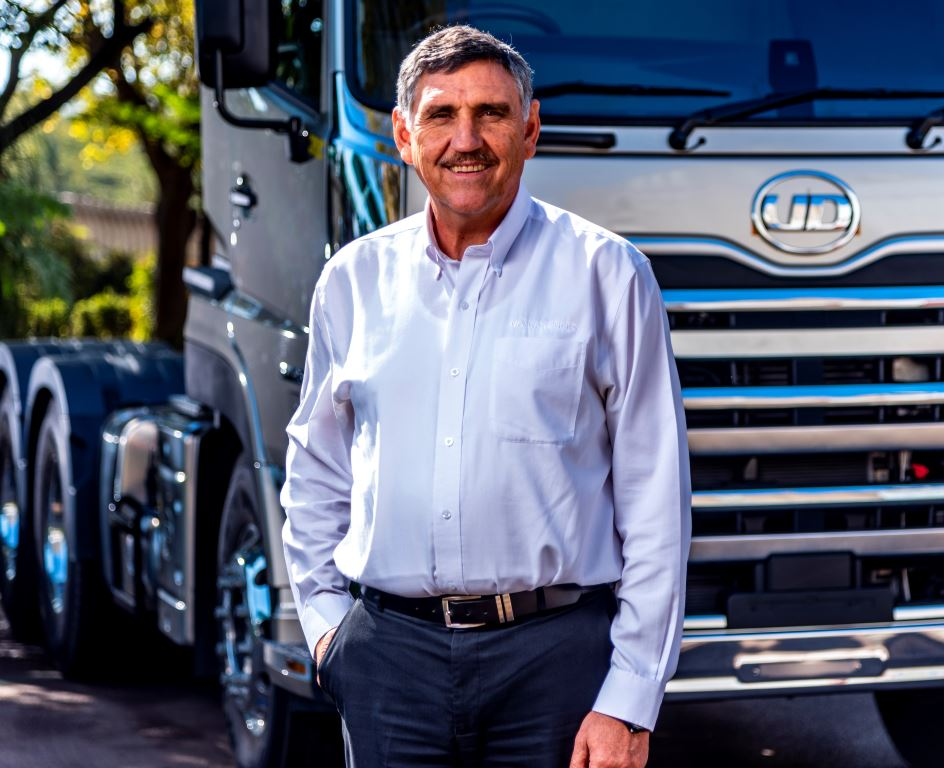 "Gert Swanepoel, MD of UD Trucks Southern Africa: ""Customers are buying down into the smaller and less expensive vehicle segments."""