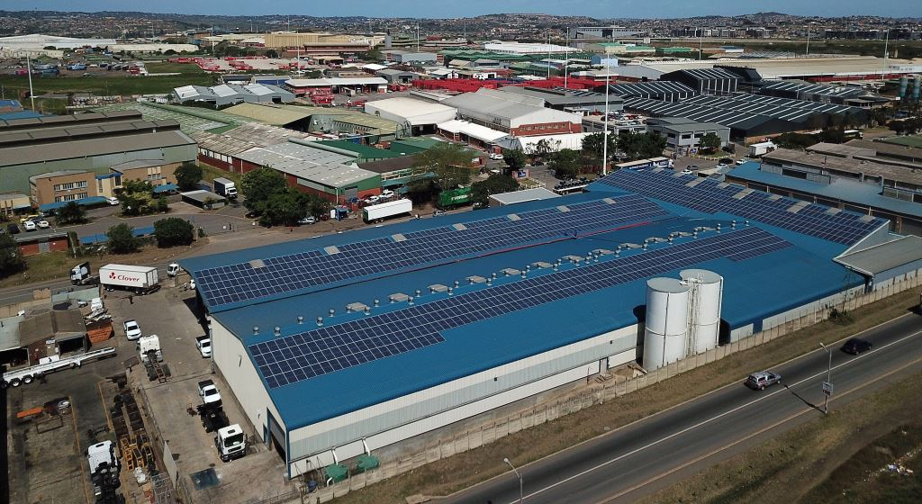 Solar power panels have been installed on the roof of Serco's Durban truck and trailer building factory as part of the company's drive to reduce its impact on the environment.