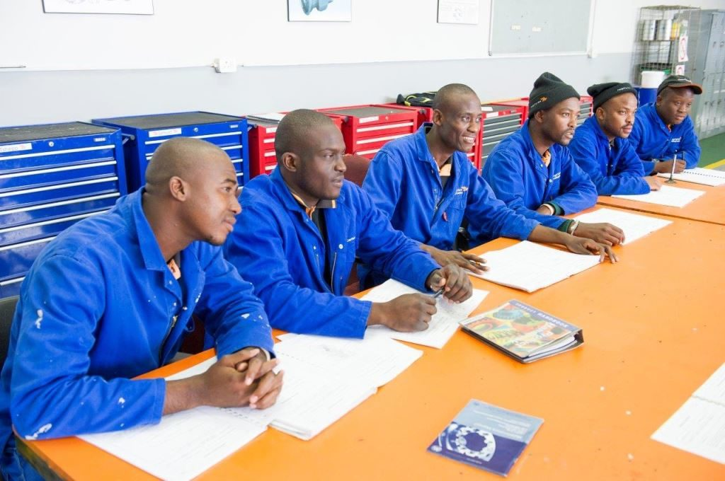 Six new diesel mechanic apprentices were inducted in 2019 - one being Cargo Carriers' first female learner; four apprentices are in their third year and five are busy with their fourth-year qualification.