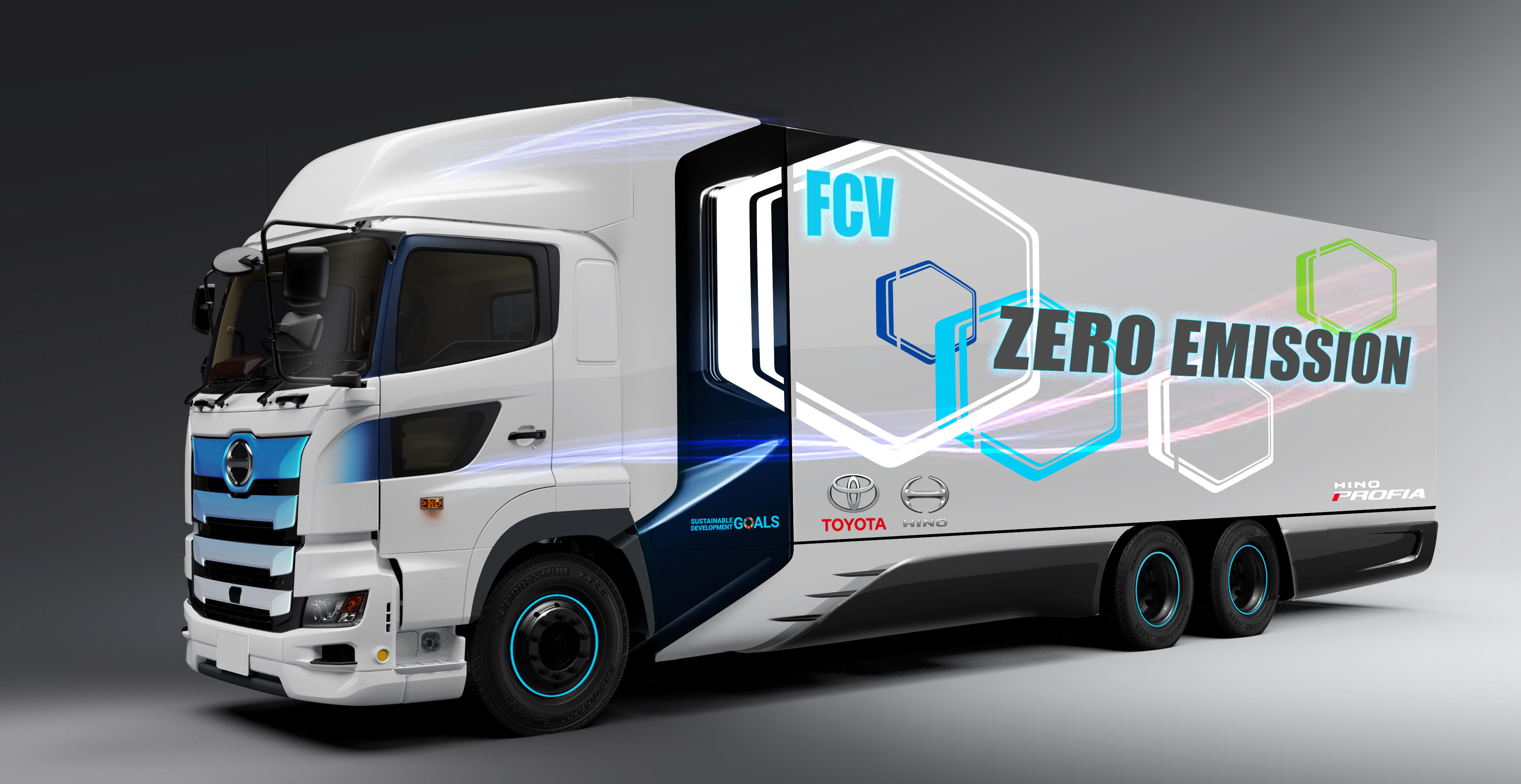 Toyota Motor Corporation's latest fuel cell project is a joint venture between Toyota and its wholly owned, truck-making subsidiary, Hino, to develop this zero emissions heavy duty fuel cell truck.