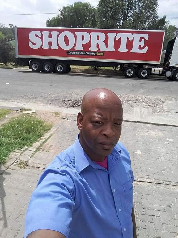 """Just prior to the lockdown, proud truck driver Qhaola Lehare posted this picture on Facebook with the caption: """"I'll be on the road during the 21 days."""" Salute to you Qhaola and to all truck drivers for your service to South Africa during this crisis time.'"""