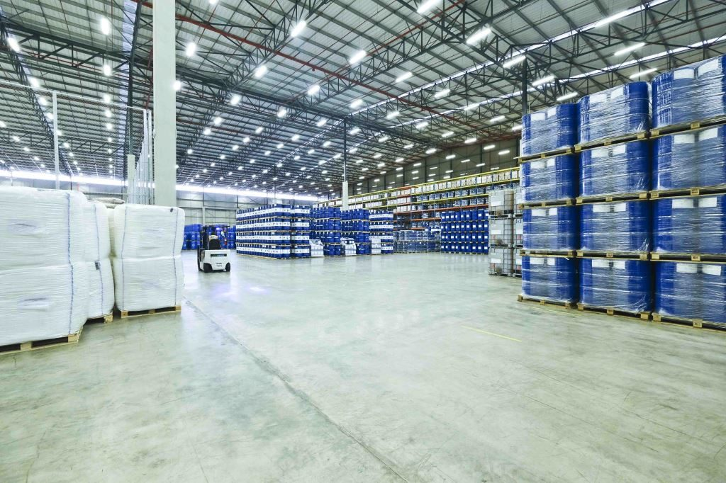 Supply-chain/logistics firms' warehouses filled up as goods remained undelivered.