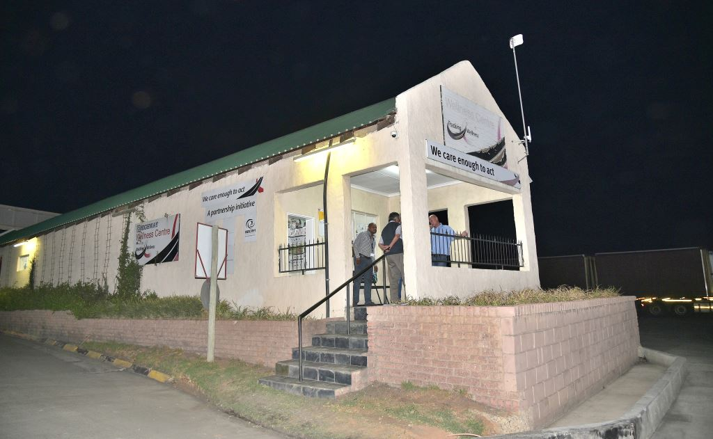 This clinic at Highway Junction in Harrismith is just one of the 21 wellness centres Trucking Wellness has offered to make available to help in the roll-out of the Covid-19 vaccination programme.