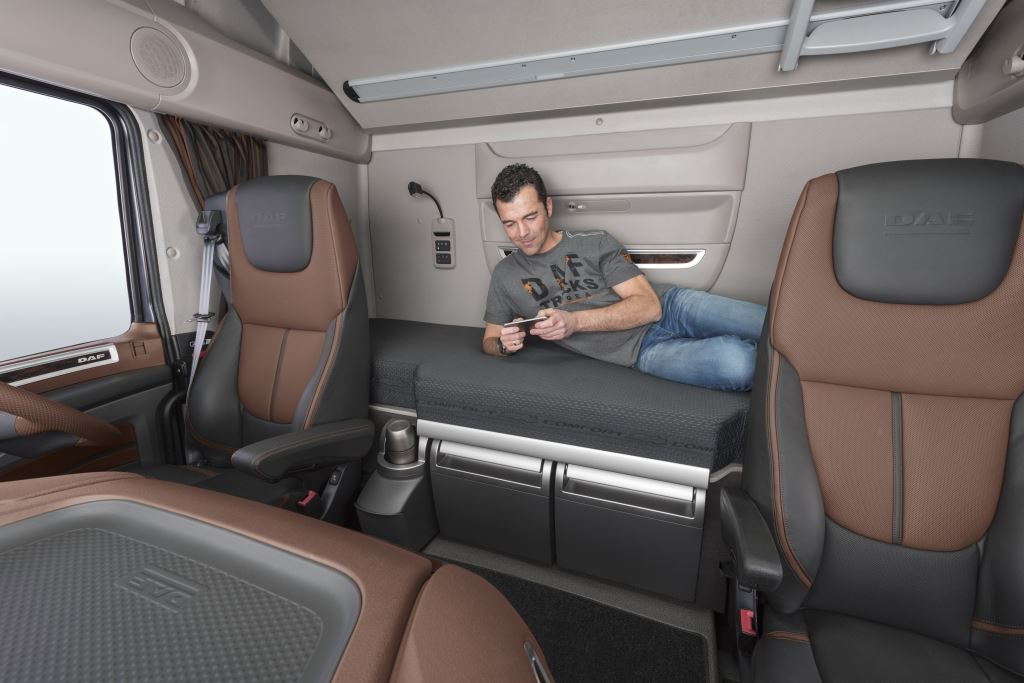 Adding to driver comfort and safety is the new DAF cab, with the XF claimed to offer the largest interior space on the market.