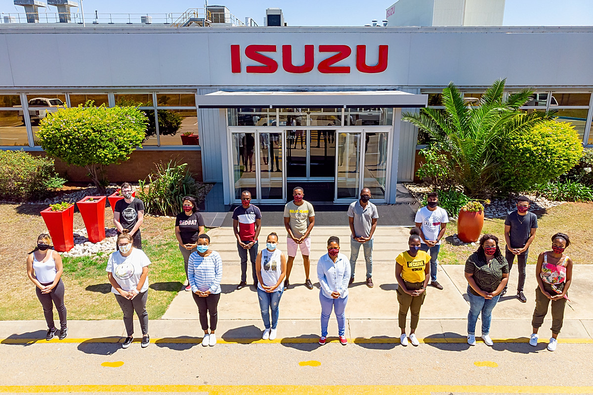 Isuzu YES candidates are excited about their new experience. Among the 42 candidates for 2021 are: Back row from left: Mathew Jepps, Racquel Williams, Okuhle Mxhesho, Sibusiso Monwabisi, Mkhululi Mabunu, Adesh Bakarali, Lindisipho Mkosana. Front row from left: Trisha Joannides, Danielle Harkin, Samantha Dickson, Shanice Minnie, Phelisa Ponono, Ncumisa Pikoli, Ntombikayise Wonci and Xolisile Siswana.