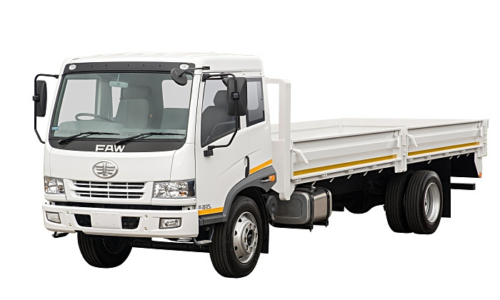 The FAW 15.180FL in dropside guise. News from FAW is that the company intends to upgrade and expand its range of vehicles during the course of 2021.