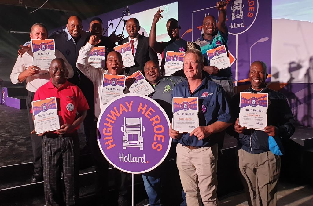 """The 2019 Hollard Highway Heroes finalists. The campaign itself has now also been voted a winner by taking the """"Excellence in Brand Marketing B2B"""" award at the prestigious Marketing Association of South Africa Awards."""