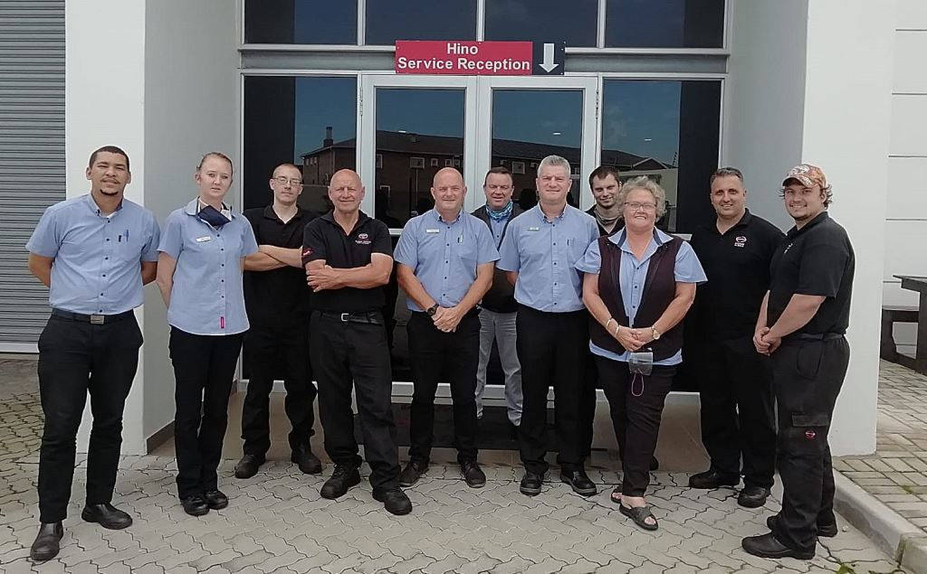 The proud team members of Hino Algoa of Port Elizabeth - winner in the commercial vehicle category at the annual MSX NADA Business of the Year (BOTY) awards.