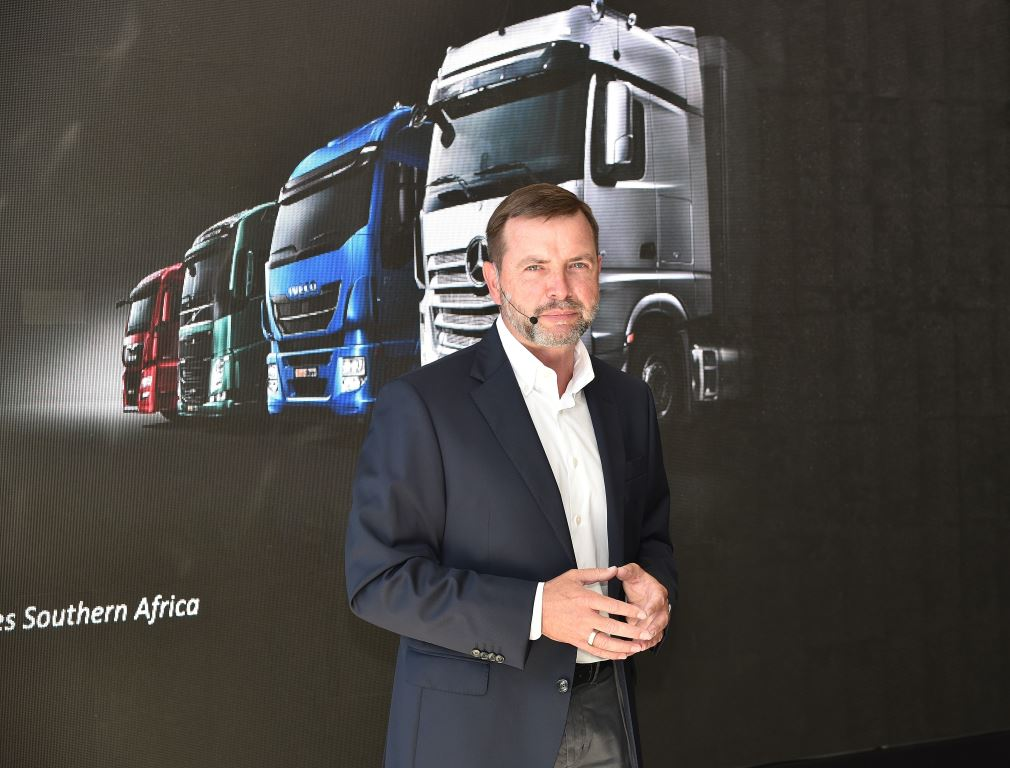 """Michael Dietz, CEO of Daimler Trucks & Buses Southern Africa: """"We are taking the business to greater heights with the move to the new facility and the expansion of our footprint across South Africa""""."""
