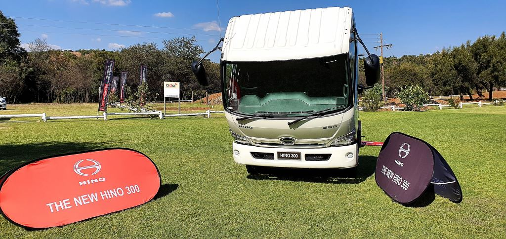 Taking a bow on behalf of the new Hino 300-Series range.