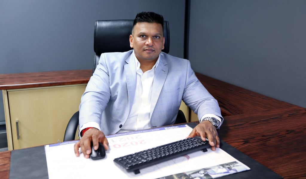 """Kishore Kanayelal, regional director at Rhenus South Africa: """"The growth of our warehousing division is an indicator that our economy is starting to recover – which is good news for everyone!"""""""