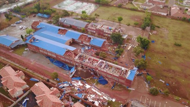 Aerial photo of Laerskool protearif. Photo Marco Schubert
